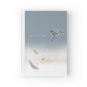 Run and Fly Bird - Hardcover Journal