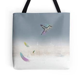 Run and Fly Bird - Tote Bag